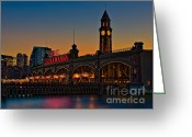 Clock Greeting Cards - Erie Lackawanna Greeting Card by Susan Candelario