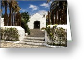 Canary Greeting Cards - Ermita de San Telmo Greeting Card by Fabrizio Troiani