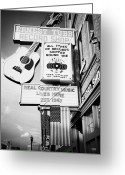 Nashville Greeting Cards - ernest tubbs record shop on broadway downtown Nashville Tennessee USA Greeting Card by Joe Fox