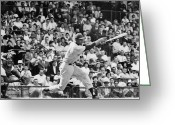 Brooklyn Dodgers Stadium Greeting Cards - Ernie Banks (1931- ) Greeting Card by Granger