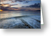 Puget Sound Greeting Cards - Eroded by the Tides Greeting Card by Mike  Dawson