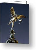 Eros Statue Greeting Cards - Eros Statue Greeting Card by Martin Bond