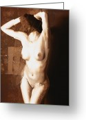 Erotic Art Greeting Cards - Erotic art 23 hours Greeting Card by Falko ...