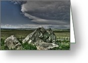 Alberta Foothills Landscape Greeting Cards - Erratic Storm Greeting Card by Greggory Poitras
