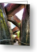 Guatape Greeting Cards - Escaleras Greeting Card by Skip Hunt