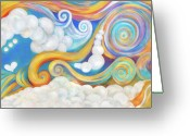 Colorful Painting Greeting Cards - Escape Greeting Card by Samantha Lockwood