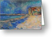 Beaches Drawings Greeting Cards - Escondita  98 Greeting Card by Bradley Bishko