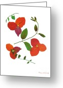 Vines Mixed Media Greeting Cards - Espirit Greeting Card by Kathie McCurdy