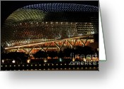 Durian Greeting Cards - Esplanade Theatre on the Bay Greeting Card by Jaroon Ittiwannapong