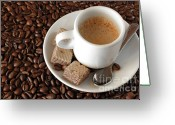 Fragrance Greeting Cards - Espresso Coffee Greeting Card by Carlos Caetano