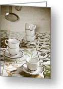 Cup Photo Greeting Cards - Espresso Cups Greeting Card by Joana Kruse