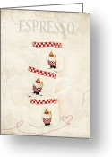 Espresso Art Greeting Cards - Espresso Greeting Card by Darren Fisher