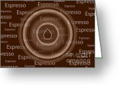 Poster Mixed Media Greeting Cards - Espresso Greeting Card by Frank Tschakert