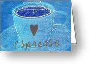 Mocha Greeting Cards - Espresso Greeting Card by Linda Woods