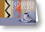 Espresso Art Greeting Cards - Espresso Poster Greeting Card by Lutz Baar