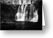 River Flooding Greeting Cards - Ess-na-crub Waterfall On The Inver River In Glenariff Forest Park County Antrim Northern Ireland Uk Greeting Card by Joe Fox
