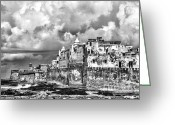 Rabat Greeting Cards - Essaouira Morocco  Greeting Card by Chuck Kuhn