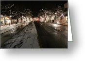 Winter Road Greeting Cards - Essence of Estes Greeting Card by John Holt
