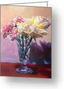 Most Greeting Cards - Essence of Rose Greeting Card by David Lloyd Glover