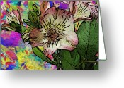 Violet Blue Digital Art Greeting Cards - Essence Greeting Card by Tim Allen