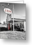 Gas Stations Greeting Cards - Esso Express Greeting Card by Chad Tracy