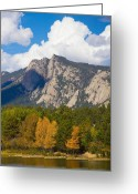 Fall Photographs Greeting Cards - Estes Lake Autumn View  Greeting Card by James Bo Insogna