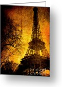Paris Greeting Cards - Esthetic Luster Greeting Card by Andrew Paranavitana
