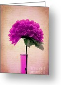 "\""flower Still Life\\\"" Greeting Cards - Estillo - 06t11 Greeting Card by Variance Collections"