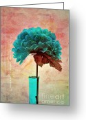 "\""flower Still Life\\\"" Greeting Cards - Estillo - s04b2t22 Greeting Card by Variance Collections"