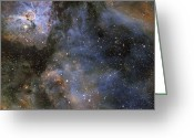 Carina Nebula Greeting Cards - Eta Carinae Nebula Greeting Card by Don Goldman
