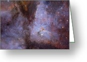 Carina Nebula Greeting Cards - Eta Carinae Nebula Greeting Card by Ken Crawford