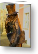 Bamberg Greeting Cards - E.T.A Hoffmann Greeting Card by Rosi Lorz