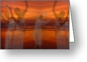 Ghostly Greeting Cards - Eternal Dance Greeting Card by Jeff Breiman