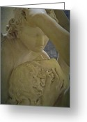 Eros Statue Greeting Cards - Eternal Love - Psyche Revived by Cupids Kiss - Louvre - Paris Greeting Card by Marianna Mills