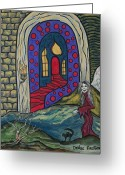 Haunted House Print Greeting Cards - Eternal Peace and Happiness Greeting Card by Deidre Firestone