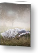 Grave Greeting Cards - Eternal Rest Greeting Card by Karen Koski