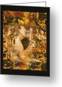 Kiss Greeting Cards - Eternally Yours Greeting Card by Kurt Van Wagner