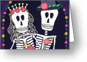 Calaveras Greeting Cards - Eterno Amor Greeting Card by Robin Westenhiser