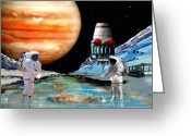 Astronomical Digital Art Greeting Cards - Europa Life Greeting Card by Bill Wright