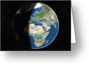 21st Greeting Cards - Europe, Satellite Image Greeting Card by Planetobserver