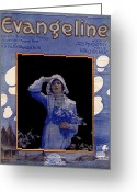 Bara Greeting Cards - Evangeline Greeting Card by Mel Thompson