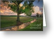 Ohio Country Greeting Cards - Evans Creek Greeting Card by Pamela Baker