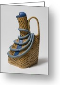 Clay Ceramics Ceramics Greeting Cards - Eve Greeting Card by Jason Galles
