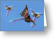 Kites Digital Art Greeting Cards - Even Butterflies Have Guardian Angels Greeting Card by Anthony R Socci