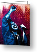 Pearl Jam Greeting Cards - Even Flow Greeting Card by Bobby Zeik