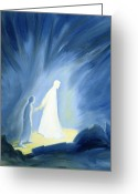 Protector Greeting Cards - Even in the darkness of out sufferings Jesus is close to us Greeting Card by Elizabeth Wang