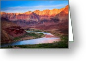 Desert Solitude Greeting Cards - Evening at Cardines Greeting Card by Inge Johnsson