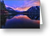 Fallen Leaf Greeting Cards - Evening at Fallen Leaf Lake Greeting Card by Jacek Joniec