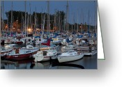 Nes Greeting Cards - Evening at the marina Greeting Card by Eunice Gibb