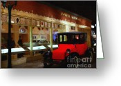 Vehicles Digital Art Greeting Cards - Evening At The Vintage American Car Dealership - 7D17460 Greeting Card by Wingsdomain Art and Photography